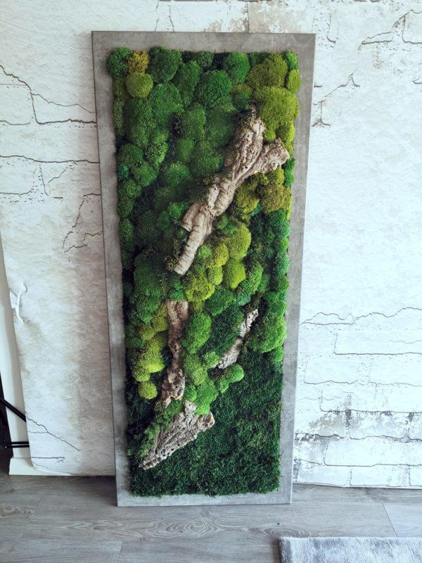 Zielony obraz z mchu stabilizowanego Forest