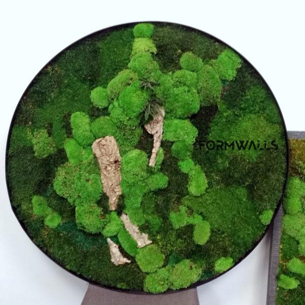 Koło z mchem średnica 110 cm typu Forest