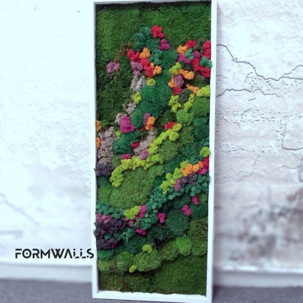 Obraz z mchów mieszanych typu Tęcza 100x 40 cm