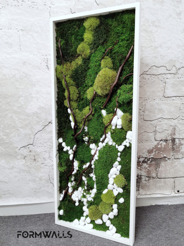 Obraz z mchów stabilizowanych typu Natura 100x 40 cm