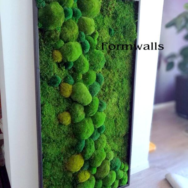 Obraz z mchów stabilizowanych Zielona etiuda
